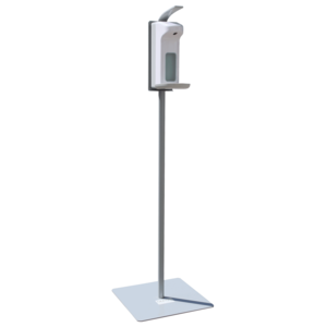 Mobile Desinfektionsstele Light in RAL 9006